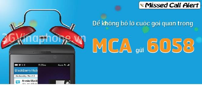 Dịch vụ thông báo cuộc gọi nhỡ Vinaphone MCA