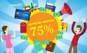 Vinaphone khuyến mãi 75% giá trị thẻ nạp ngày 2/2