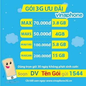 Cách đăng ký gói cước 3G Vinaphone trọn gói nhận data khủng