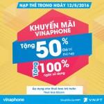 Khuyến mãi nạp thẻ Vinaphone