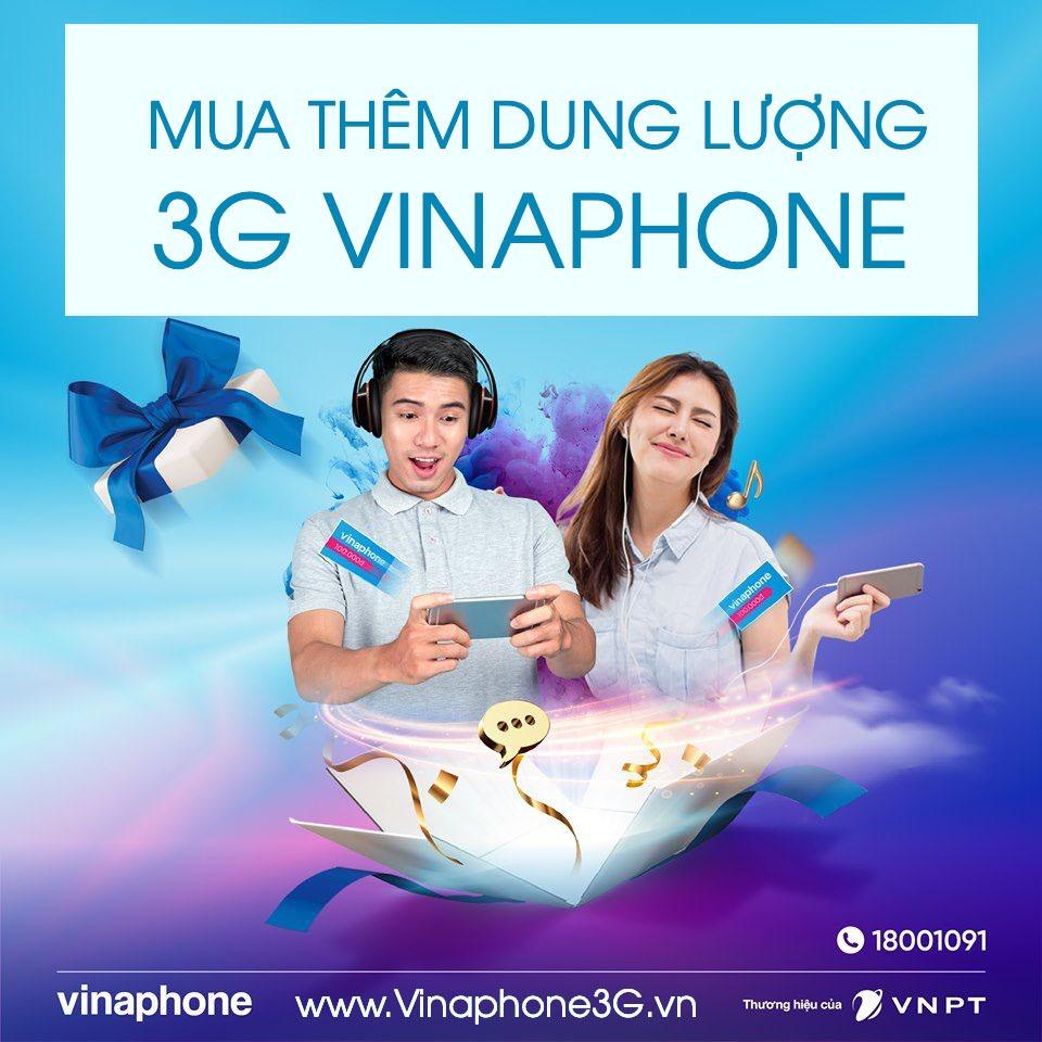 Hướng dẫn cách mua thêm dung lượng 3G Vinaphone tiết kiệm nhất 2019