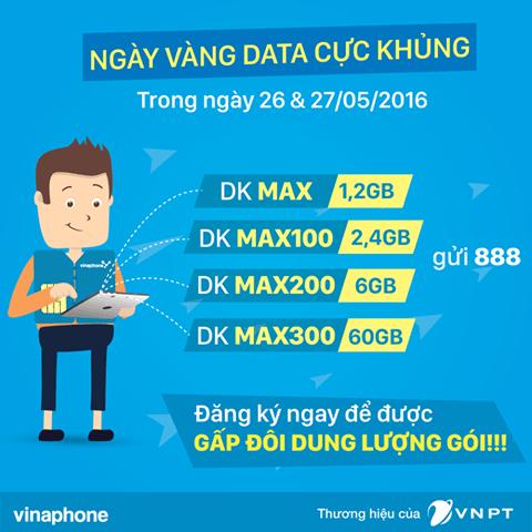 Vinaphone khuyến mãi 100% Data 3G