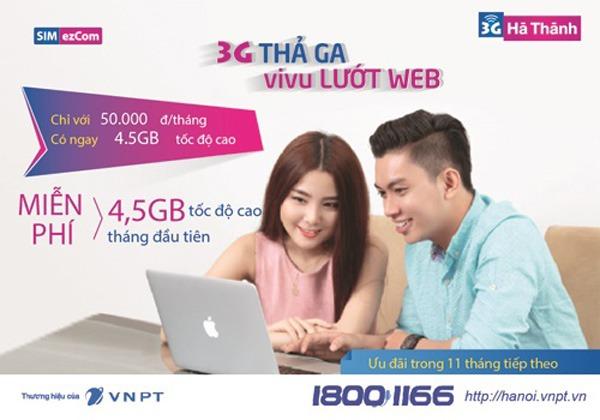 sim 3G Hà Thành Vinaphone