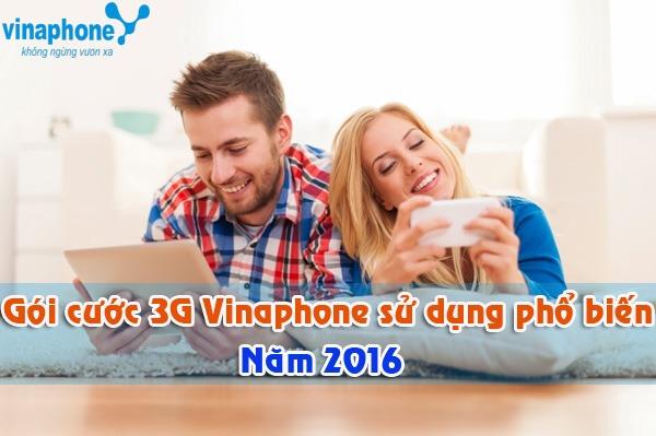 gói cước 3G Vinaphone sử dụng phổ biến nhất 2016
