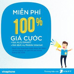 Miễn phí 100% giá cước Vinaphone