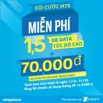Vinaphone khuyến mãi gói cước M70