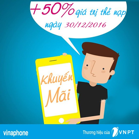 vinaphone-khuyen-mai-cuc-bo-ngay 30-12-2016-tang-50-the-nap
