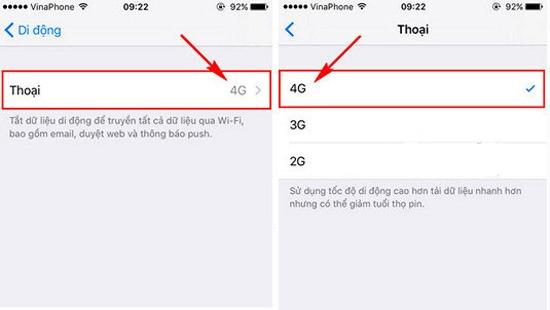 Cách bật mạng 3G lên 4G trên điện thoại iPhone