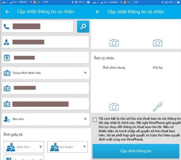 Hướng dẫn đăng ký thông tin sim Vinaphone chính chủ tại nhà