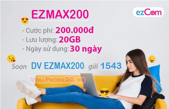 Thông tin chi về gói cước EZMAX200 Vinaphone