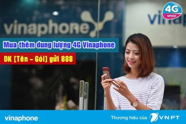 Làm thế nào để mua thêm data 4G Vinaphone bổ sung?
