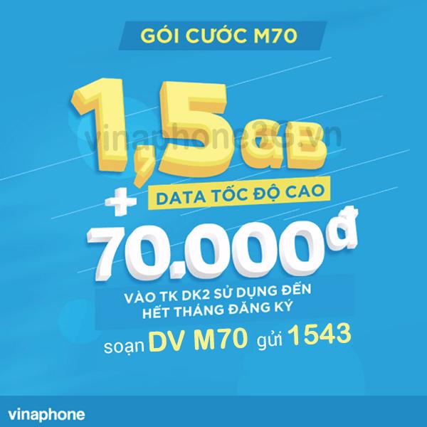 Thông tin chi tiết về gói cước M70 của Vinaphone