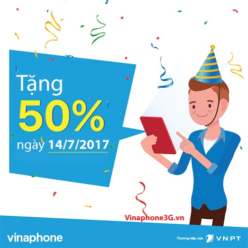 Khuyen mai Vinaphone 14/7/2017