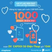 Đăng ký gói cước Cặp Đôi Vinaphone miễn phí 1000 phút gọi