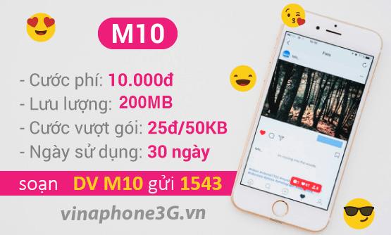 Thông tin chi tiết về gói cước M10 của Vinaphone