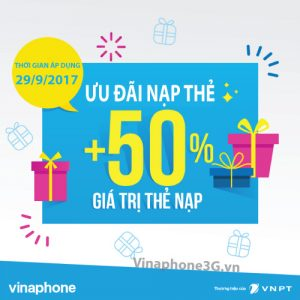 Khuyến mãi Vinaphone 29-9-2017