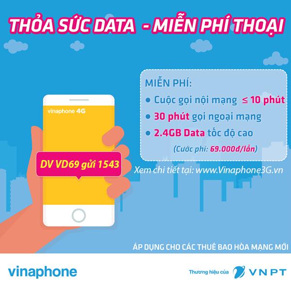 Thông tin chi tiết về gói cước VD69 của Vinaphone