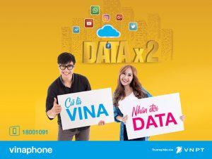 Nhân đôi lưu lượng khi đăng ký gói 3G/4G Vinaphone