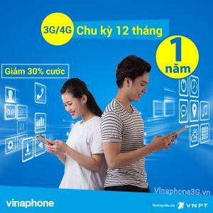 Đăng ký 3G/4G Vinaphone 1 năm
