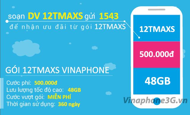 Thông tin chi tiết về gói cước 12TMAXs Vinaphone