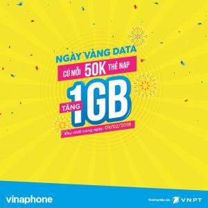 Nạp thẻ tặng Data - Vinaphone khuyến mãi ngày 9/2/2018
