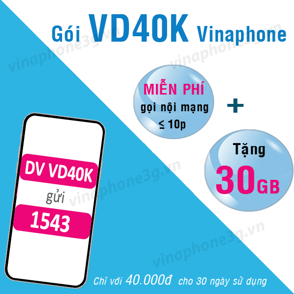 Làm thế nào để đăng ký gói cước V40K của Vinaphone
