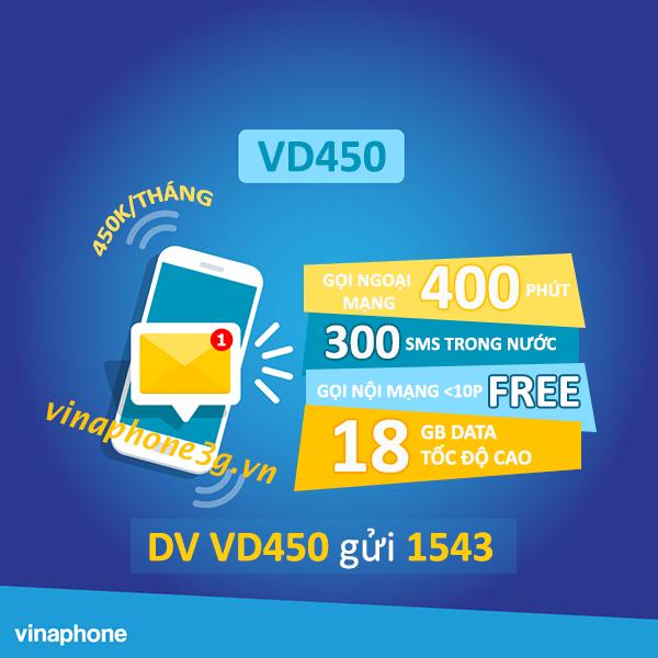 Làm thế nào để đăng ký gói cước VD450 của Vinaphone