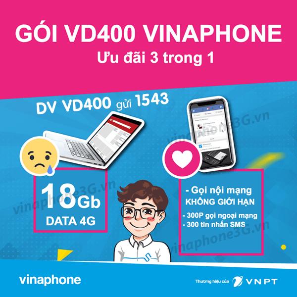 Hướng dẫn đăng ký gói cước VD400 của Vinaphone