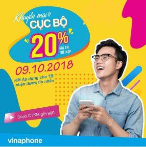 khuyến mãi vinaphone ngày 9/10/2018 ưu đãi cho Tb may mắn