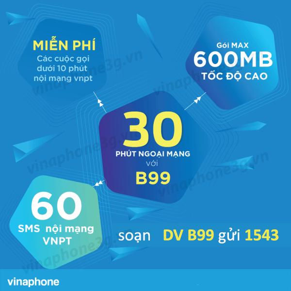 Hướng dẫn đăng ký gói cước B99 Vinaphone