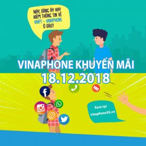Khuyến mãi Vinaphone ngày 18/12/2018 tặng 20% giá trị nạp tiền/ nạp thẻ
