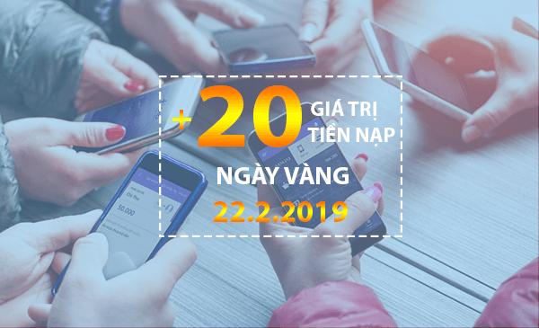 Khuyến mãi của Vinaphone vào ngày vàng 22/2/2019 cho tb trả trước