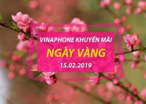 Vinaphone khuyến mãi ngày 15/2/2019 ưu đãi 20% NGÀY VÀNG