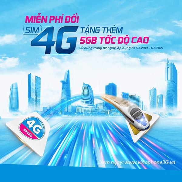 Nhận ngay 5GB data tốc độ cao khi đổi sim 4G Vinaphone