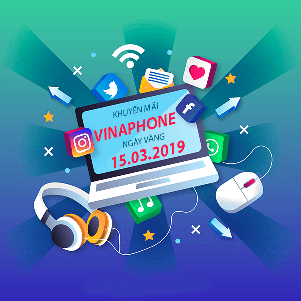 Vinaphone khuyến mãi ngày 15/3/2019 ưu đãi ngày vàng toàn quốc