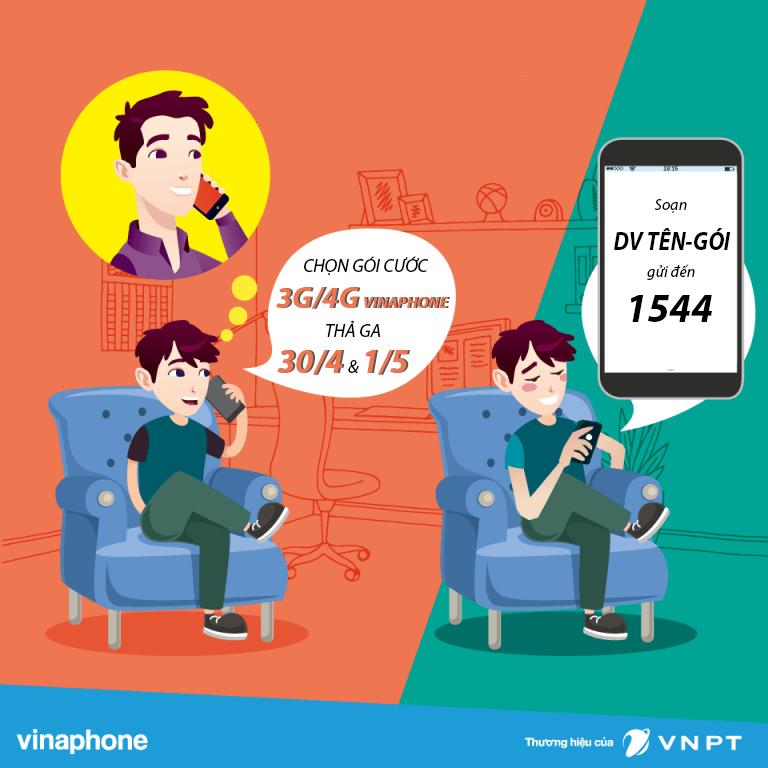 Lễ 30/4 và 1/5 nên chọn đăng ký gói cước 3G 4G Vinaphone nào?