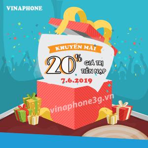 Khuyến mãi của Vinaphone ngày vàng 7/6/2019 cho TB trả trước