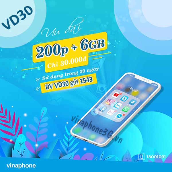 Thông tin chi tiết về gói cước Vd30 Vinaphone