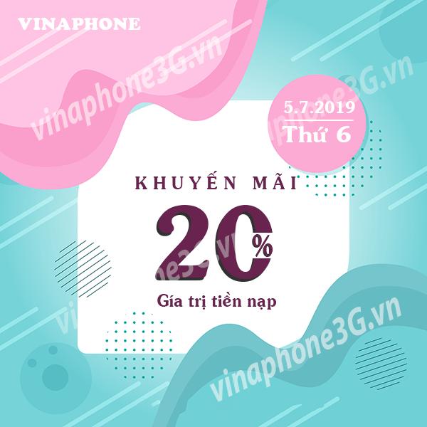 Khuyến mãi của Vinaphone ngày 5/7/2019 cho tất cả thuê bao trả trước