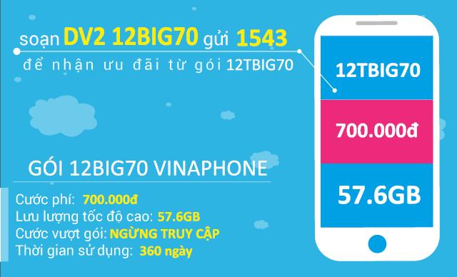 Hướng dẫn cách đăng ký gói cước 12TBIG70 của Vinaphone