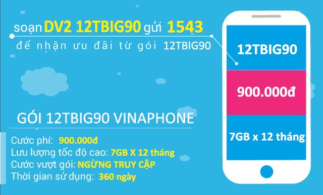 Thông tin chi tiết về gói cước 12TBiG90 Vinaphone