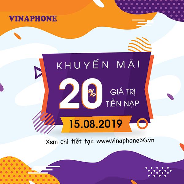 Ưu đãi ngày vàng khi tham gia khuyến mãi Vinaphone ngày 15/8/2019