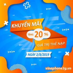 Chương trình khuyến mãi của Vinaphone ngày vàng 2/8/2019