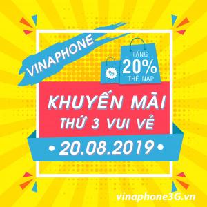 Thông tin chi tiết về Vinaphone khuyến mãi ngày 20/8/2019