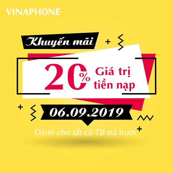Thông tin chi tiết về chương trình Vinaphone khuyến mãi ngày 6/9/2019