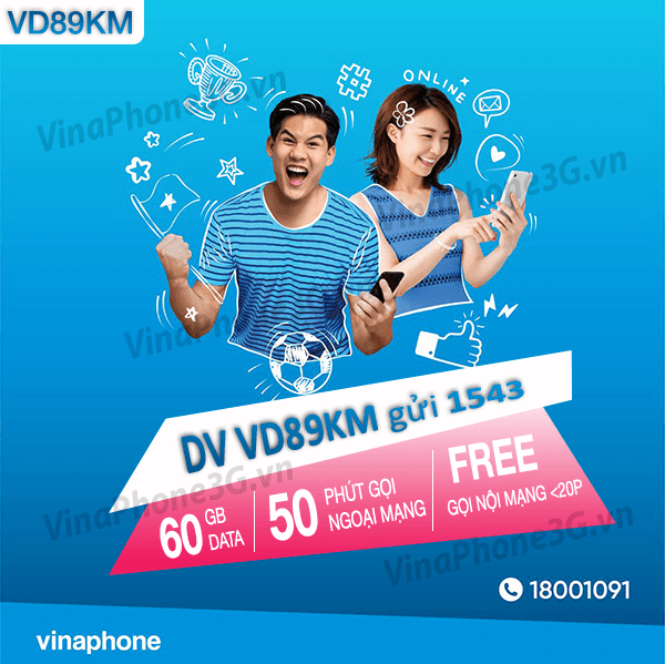Thông tin chi tiết về gói cước VD89KM của Vinaphone