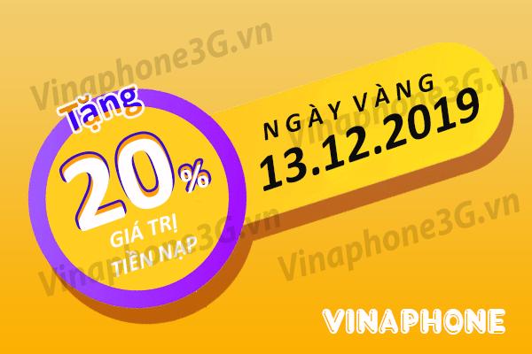 Chương trình khuyến mãi Vinaphone ngày 13/12/2019