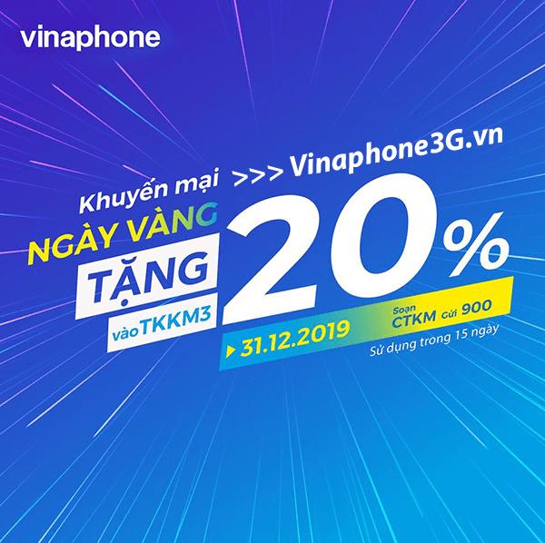 Thông tin chi tiết về chương trình khuyến mãi của Vinaphone ngày 31/12/2019