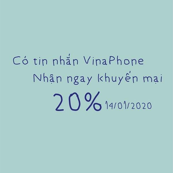 Thông tin chi tiết về chương trình khuyến mãi Vinaphone ngày 14/1/2020