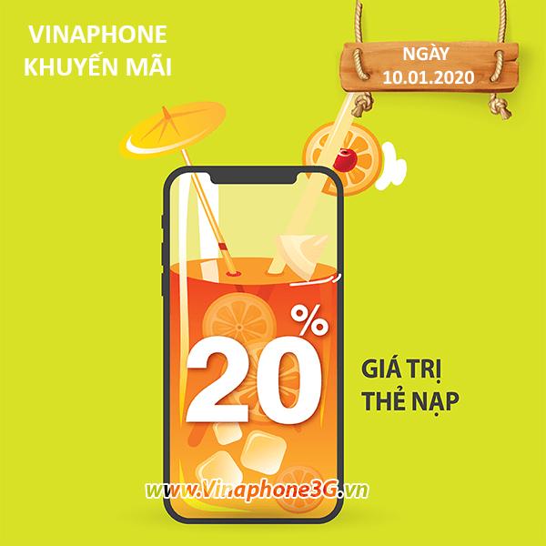 Vinaphone khuyến mãi ngày 10/1/2020 ưu đãi ngày vàng toàn quốc
